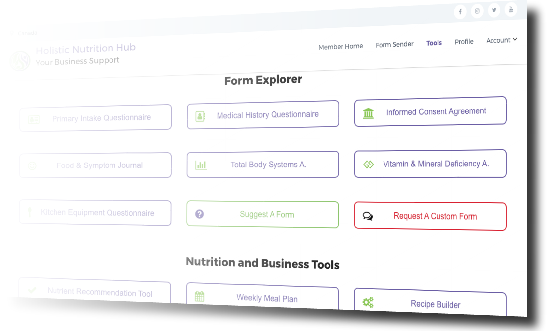 Nutrition Assessment Forms And Consulting Tools For Nutrition Pros