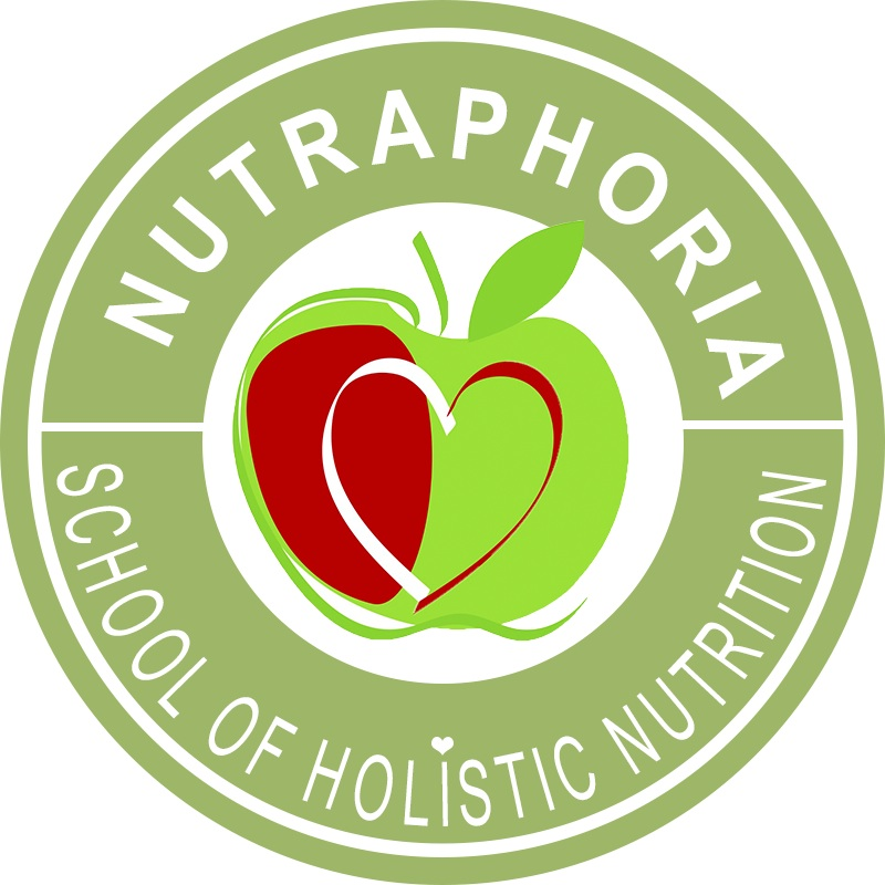 NutraPhoria School of Holistic Nutrition Logo light green TRANSPARENT RED copy