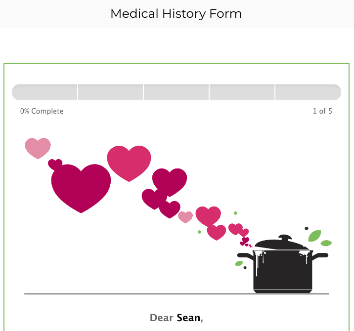 Medical History Form Preview 1
