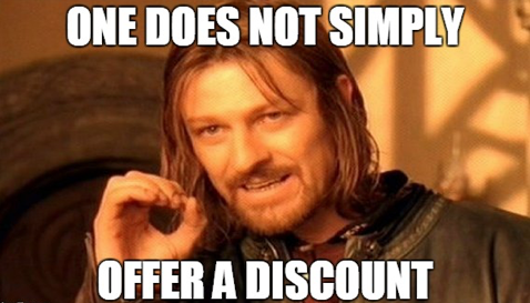 Dont Offer Discounts