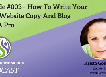 How To Write Your Own Website Copy And Blog Like A Pro With Krista Goncalves