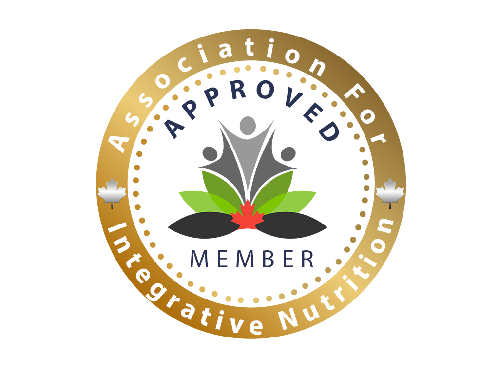 The Canadian Association for Integrative Nutrition Approved Memeber Stamp