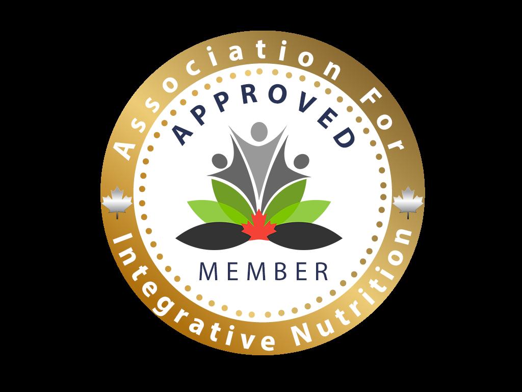 The Canadian Association for Integrative Nutrition Approved Memeber Stamp